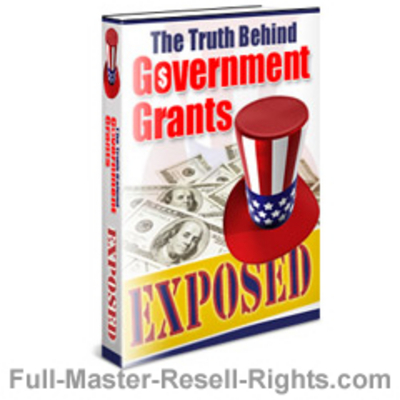 Pay for Ebook - US Gov Grants Exposed With Full Master Resale Rights