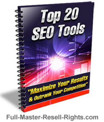 Pay for Ebook - Top 20 SEO Tools With Full Master Resale Rights