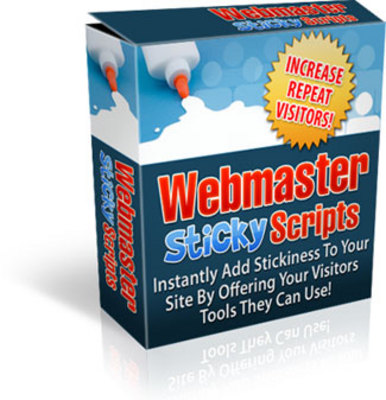 Pay for Webmaster Sticky Scripts Collection With Master Resale Right