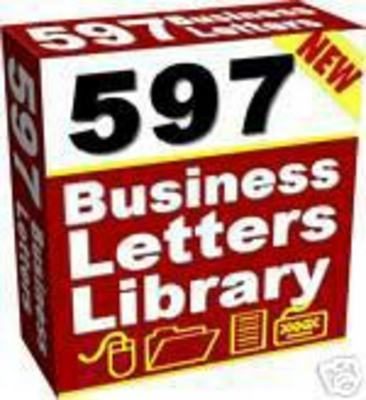 Pay For 597 Ready To Use PLR Business Letters With MRR