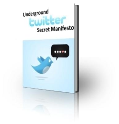 Pay for Underground Twitter Manifesto