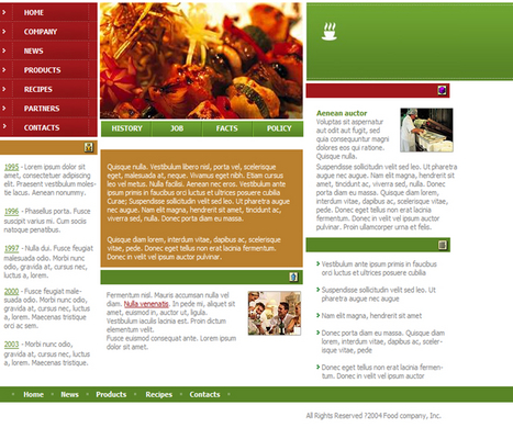 Pay for Restaurant - Food Site Flash Audio Website Template