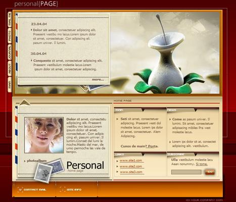 Female Personal Profile Webpage Flash Audio Website