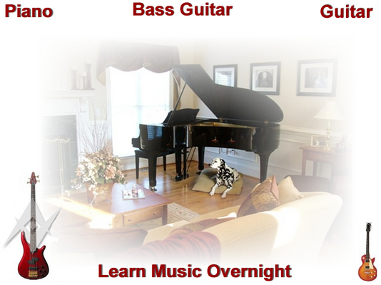 Pay for Guitar, Bass guitar, Piano Learn Music Overnight