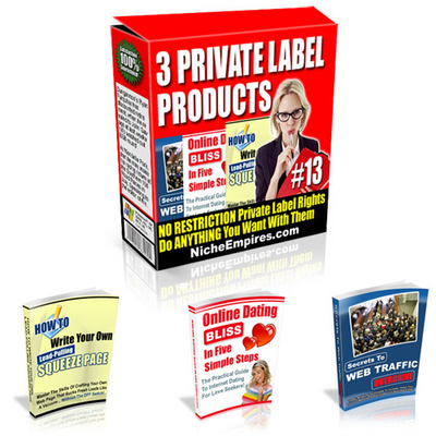 Pay for 3 Private Label Ebook Products