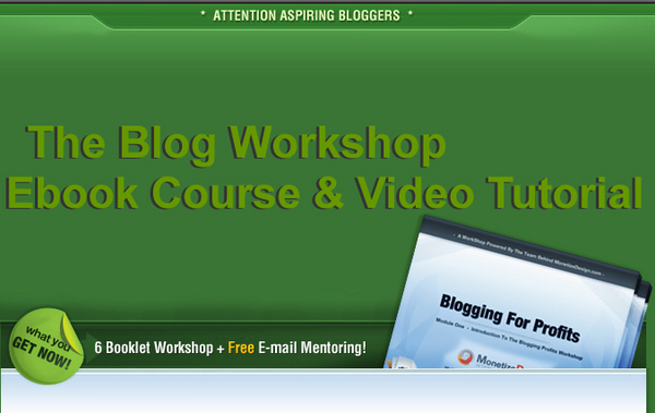 Pay for The Blog Workshop - Video Tutorial