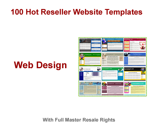 Pay for 100 Hot Reseller Website Templates