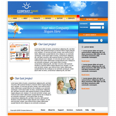 Pay for Online Business - Portfolio Website Template