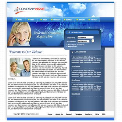 Pay for Business Portfolio Website Template
