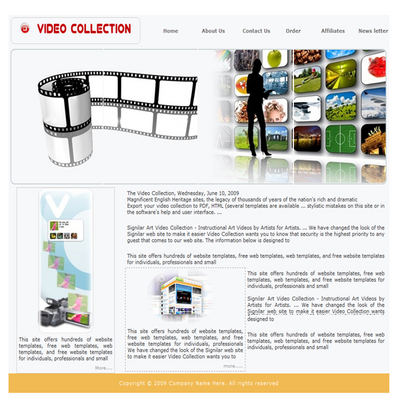 Pay for Video Collection Website Template