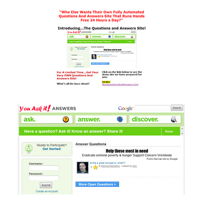 Pay for Turnkey Question And Answer Site Like Yahoo Answers