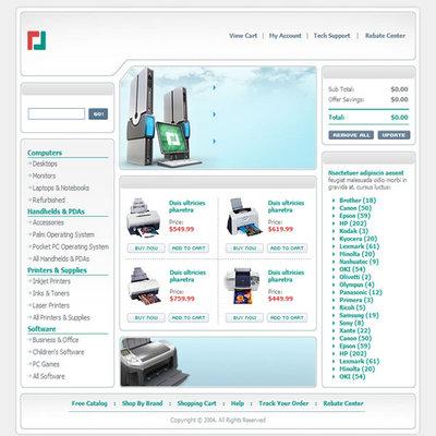 Online Store Computer Sales Website Template - Download Templates /...