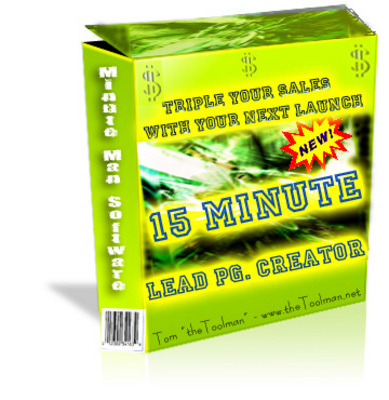 Pay for 15 Minute Lead Page Generator