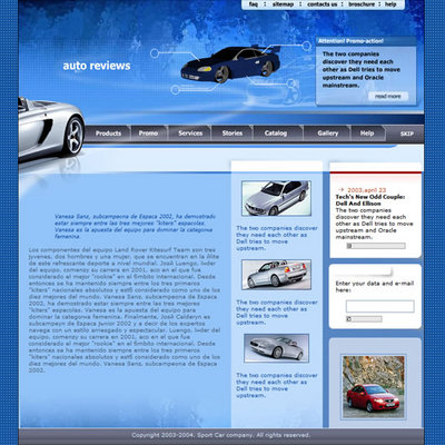 Pay for Automotive - Flash Website Template