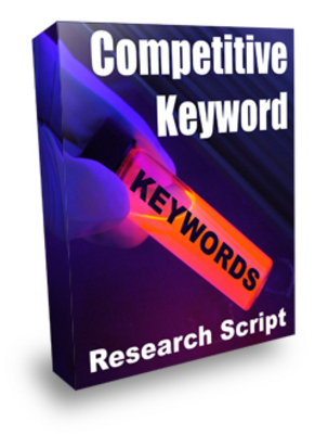 Pay for HOT! Competetive Keyword Research PHP Script