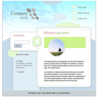 Pay for Online Business Flash Website Template