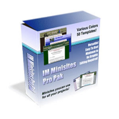 Pay for Internet Marketing Minisites Propack