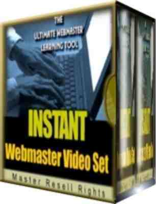 Pay for Instant Webmaster Video Set