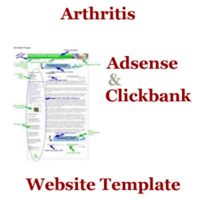 Pay for Arthritis Niche - Adsense Clickbank Website Template