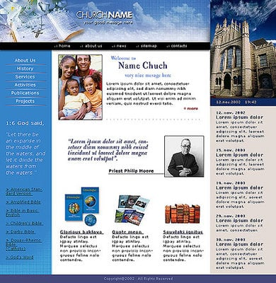 Pay for Religious Organization - Church Website Template