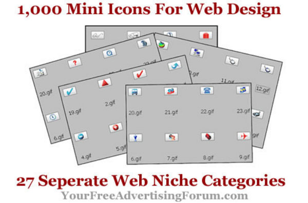 Pay for 1,000 Mini Icons For Web Design