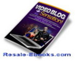 Thumbnail *NEW!* Video Blog Sensation PLR Ebook w Private Label Rights