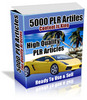 Thumbnail  *NEW!* 5000 PLR Articles - Private Label Rights