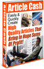 Thumbnail *NEW!* Article Cash - Easily Create High Quality Article PLR