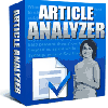 Thumbnail *NEW!* Article Analyzer -Resale Rights | Get More Targeted Search Engine Traffic With Articles Optimized