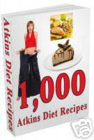 Pay for *NEW!*  1000 ATKINS DIET RECIPES EBOOK RESELL