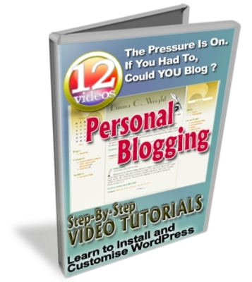 Pay for *NEW!* Personal Blogging video series - Master Resell Rights