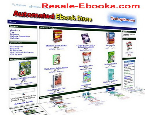*NEW!* Ebook Store Script With Resale Rights  Automated eBook Store script