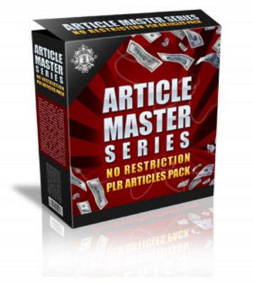 *NEW!* Article Master Series V. 13 - Plr Articles