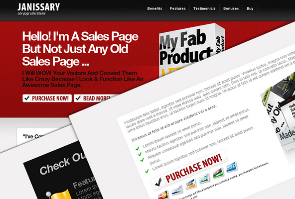 Pay for *NEW!*  Stunning One Page Sales Page Template Resale Rights