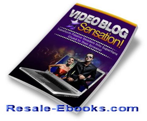 *NEW!* Video Blog Sensation PLR Ebook w Private Label Rights Blogging