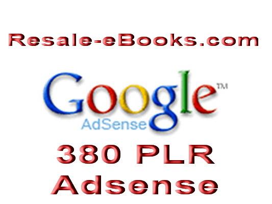 *NEW!* PLR Adsense Articles 380 Google AdSense PLR Articles  High Quality Articles PLR