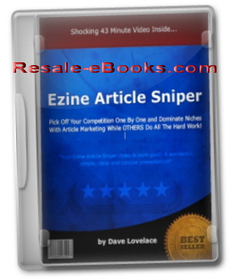 Pay for *NEW!* Ezine Article Sniper Video Course - Niche Domination