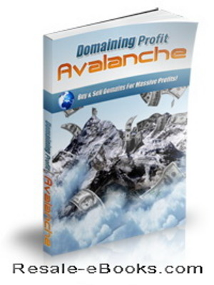 *NEW!* Domaining Profits Avalanche Audio Video Ebook MRR  Buy & Sell Domains For Massive Profits!