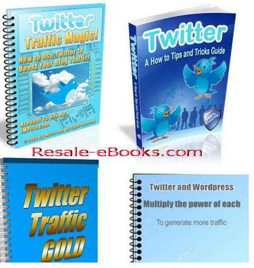 Pay for *NEW!* Twitter Tips and Tricks Guide eBooks - Resell Rights