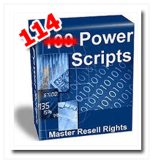 Pay for *NEW* 114 Powerful Scripts - Resale Rights - Huge Package