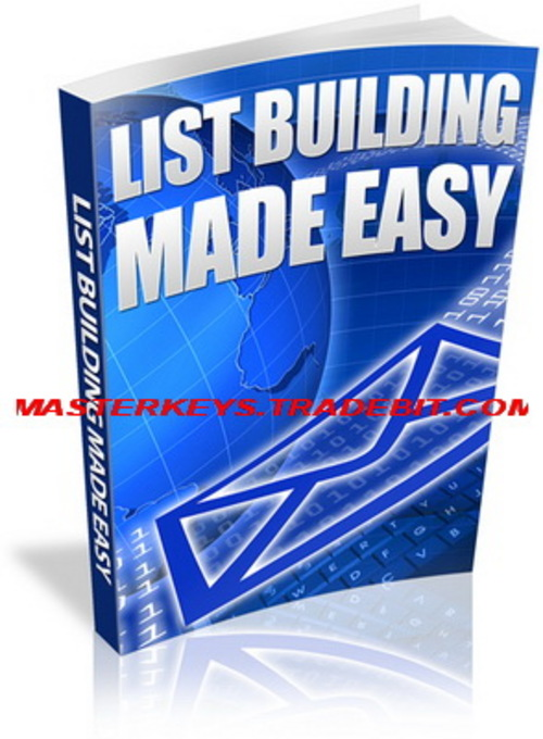 Pay for *NEW!* List Building Made Easy  Using viral marketing  Using SEO for list building  Using eBay to build your list quickly & easily