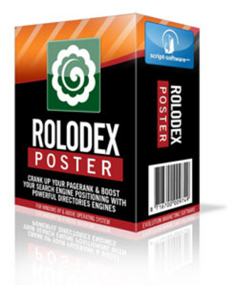 Pay for *NEW!* Rolodex Poster Directory Submission Software w Resale