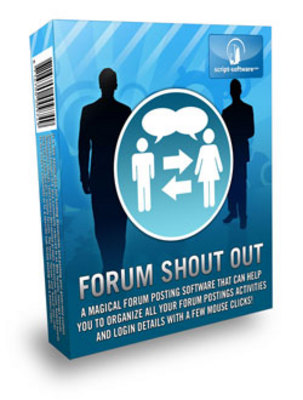 Pay for *NEW!* Forum ShoutOut Software with Resale Rights
