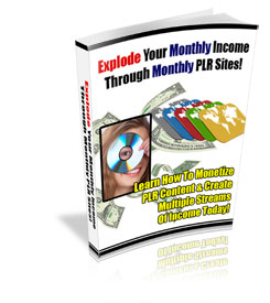 *NEW!* Explode Your Monthly Income Through Monthly PLR Sites  PRIVATE LABEL RIGHTS