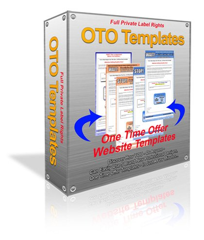 *NEW!*  One Time Offer Templates PLR   Simple customizable One Time Offer Templ