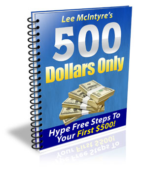 *NEW!*  500 Dollars Only -Steps To Your First $500 - Master Resale Rights