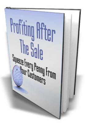 Pay for  *NEW!* Profiting After The Sale Now ! Squeeze Every Penny From Your Customers -Master Resale Rights