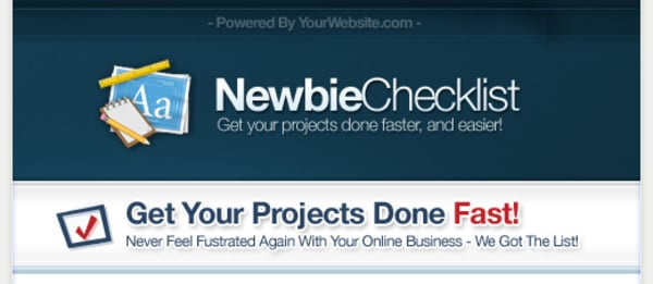 *NEW!* Newbie Checklist PLR Package - Private Label Rights