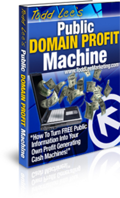 *NEW!* Public Domain Profit Machine - Foolproof Way To Create Massive Cash Producing Websites