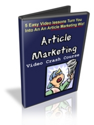 Pay for  *NEW!* Article Marketing Video Crash Course - MRR